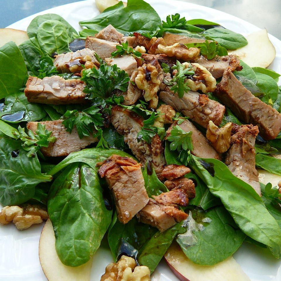 Pork, Pear and Walnut Salad