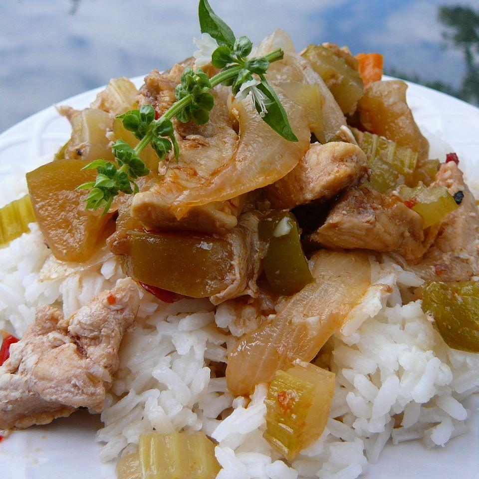 Korean Spicy Chicken Tenders with Sweet Apple mirikim03