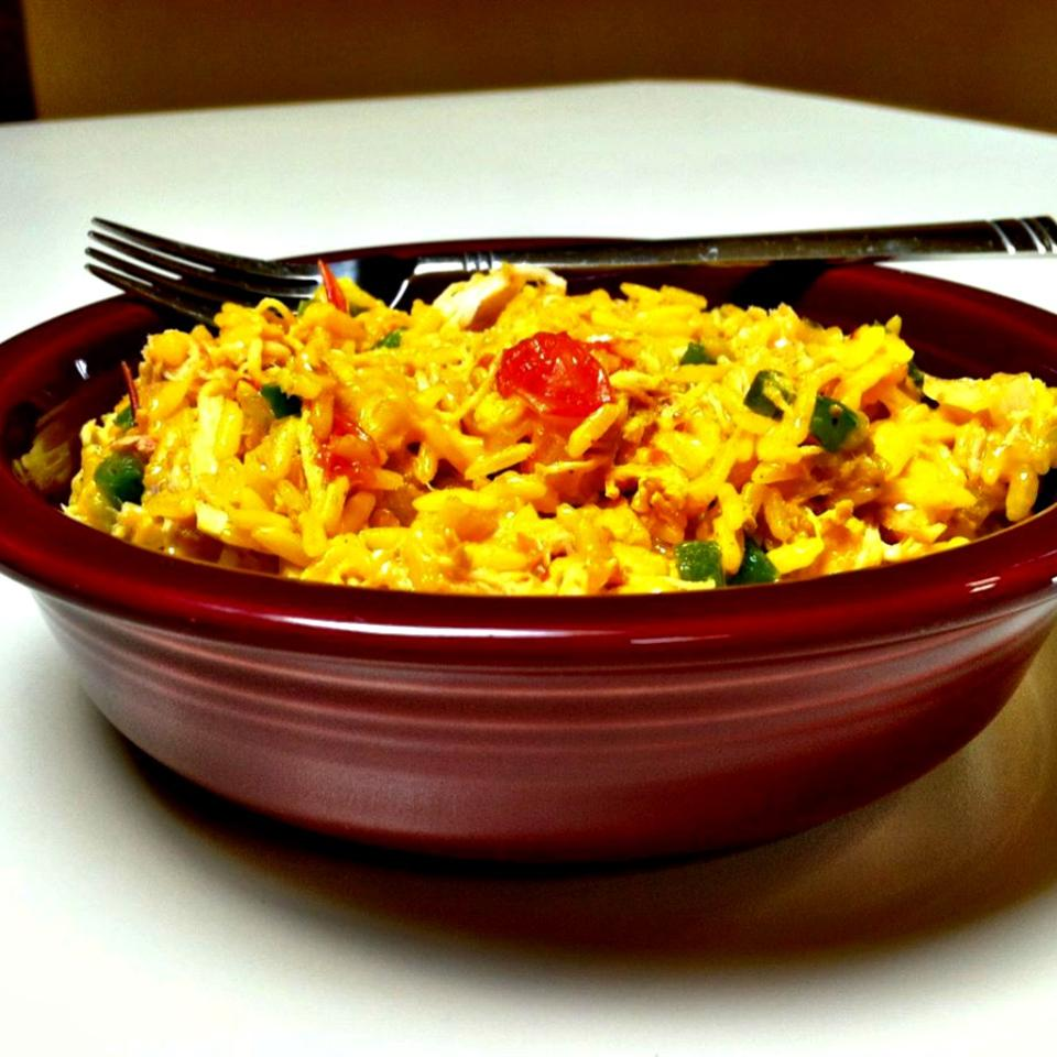 Cheesy Chicken and Yellow Rice