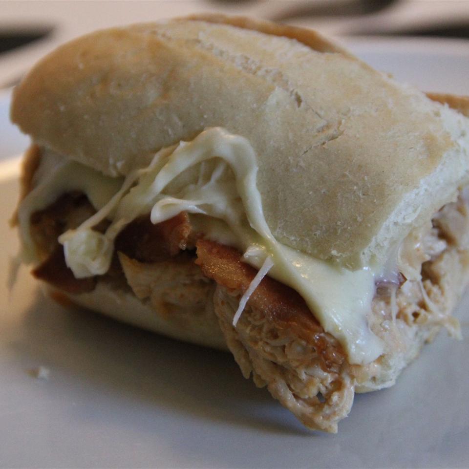 Hot Buffalo Chicken, Bacon, and Cheese Sandwich Mia Poulsen