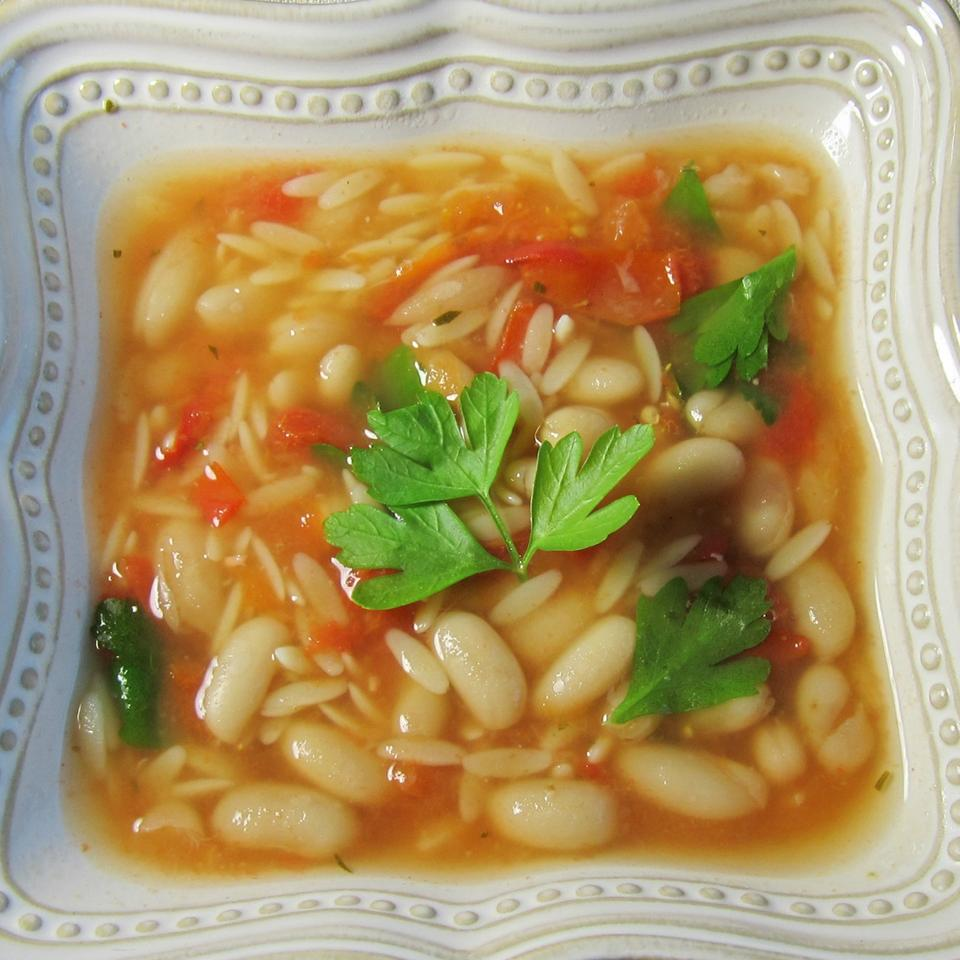Chicken Soup With Pasta and White Beans Ben Shapiro