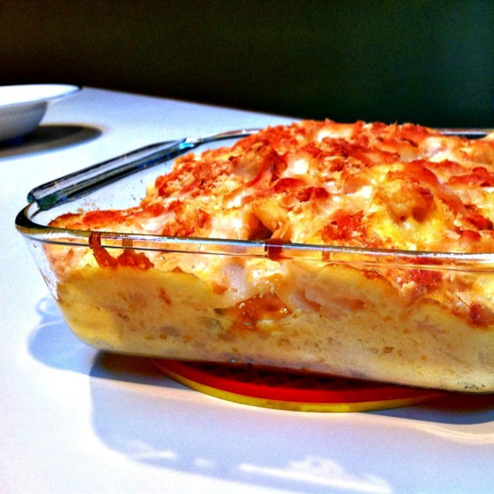 Parmesan-Crusted Au Gratin Potatoes and Onion lovestohost