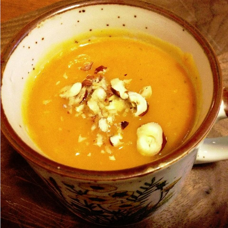 Banana Squash Soup with Sweet Potato and Green Apple mpersall