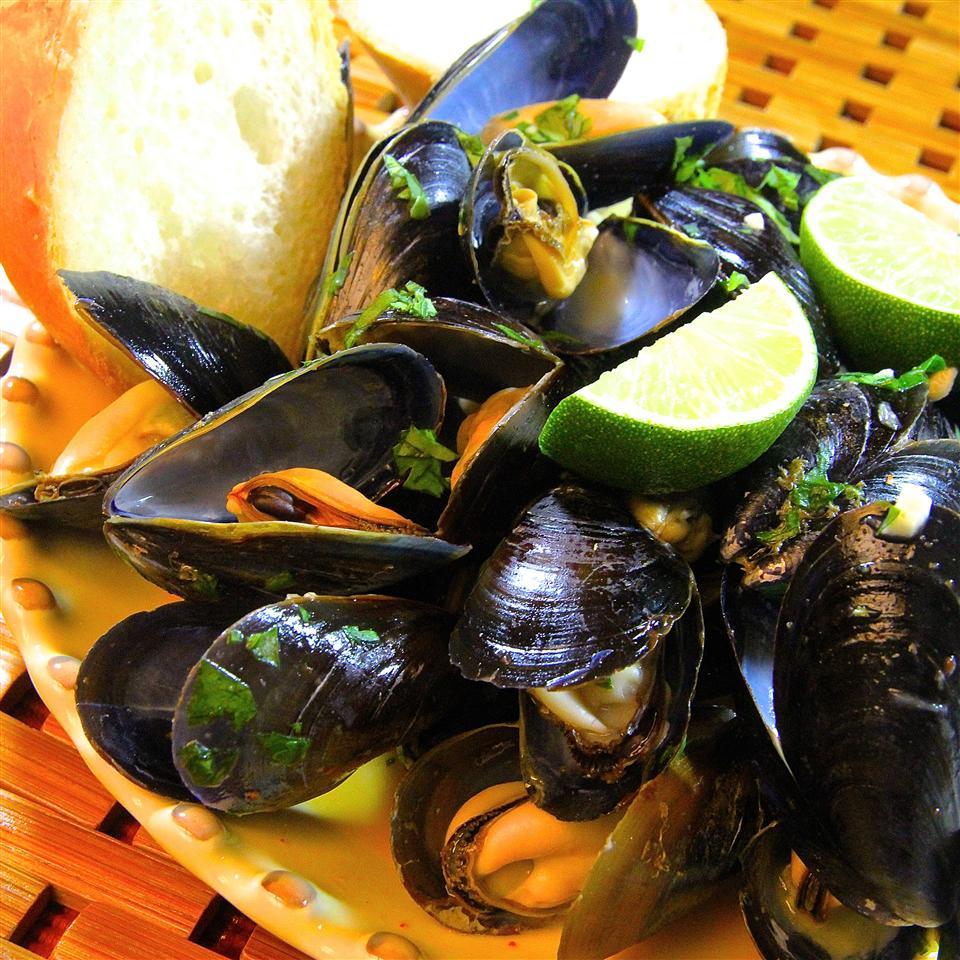 thai steamed mussels recipe