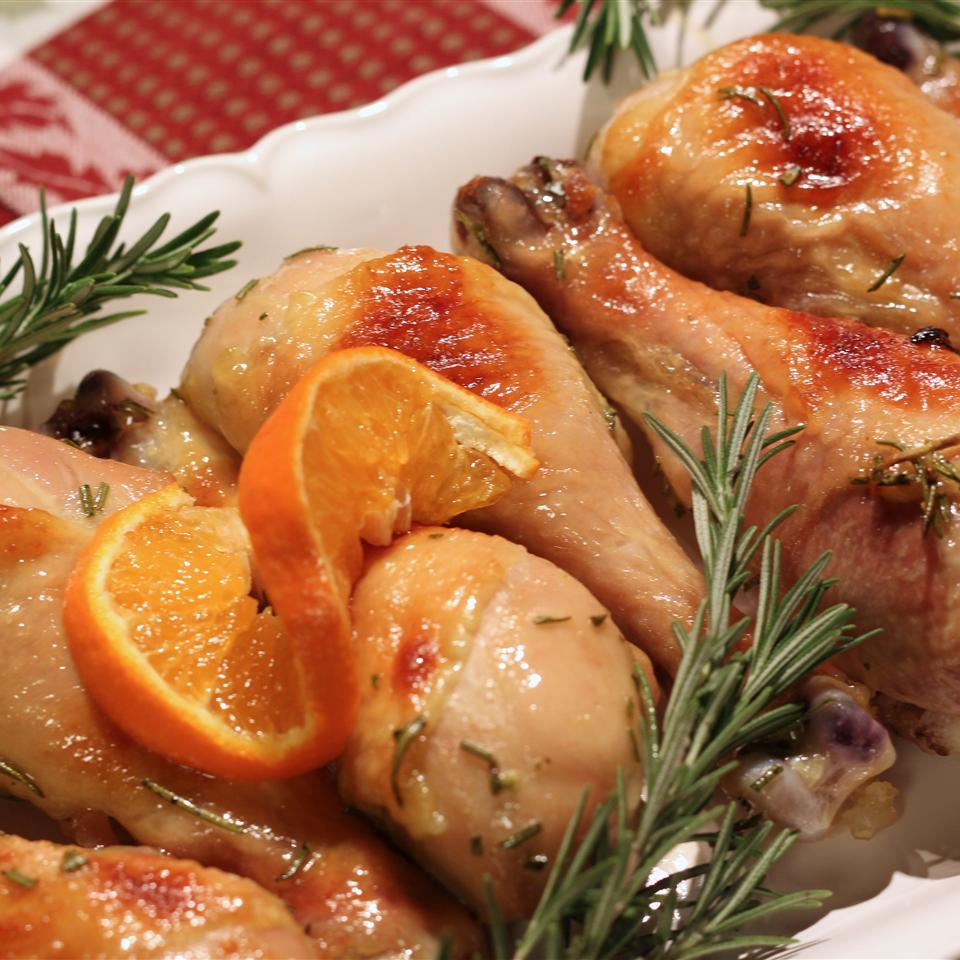 Roasted Orange Rosemary Honey Glazed Chicken Jolanta