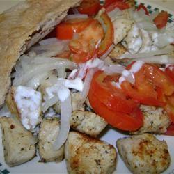 Marinated Chicken Pita Sandwich
