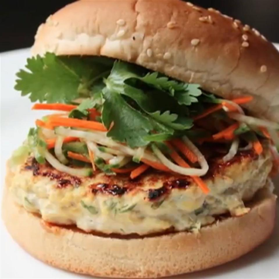 Chef John's Chicken Satay Burger Chef John