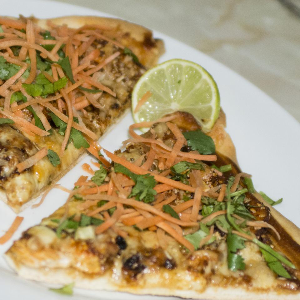 Gourmet Thai Chicken Pizza Ernestina Sanchez