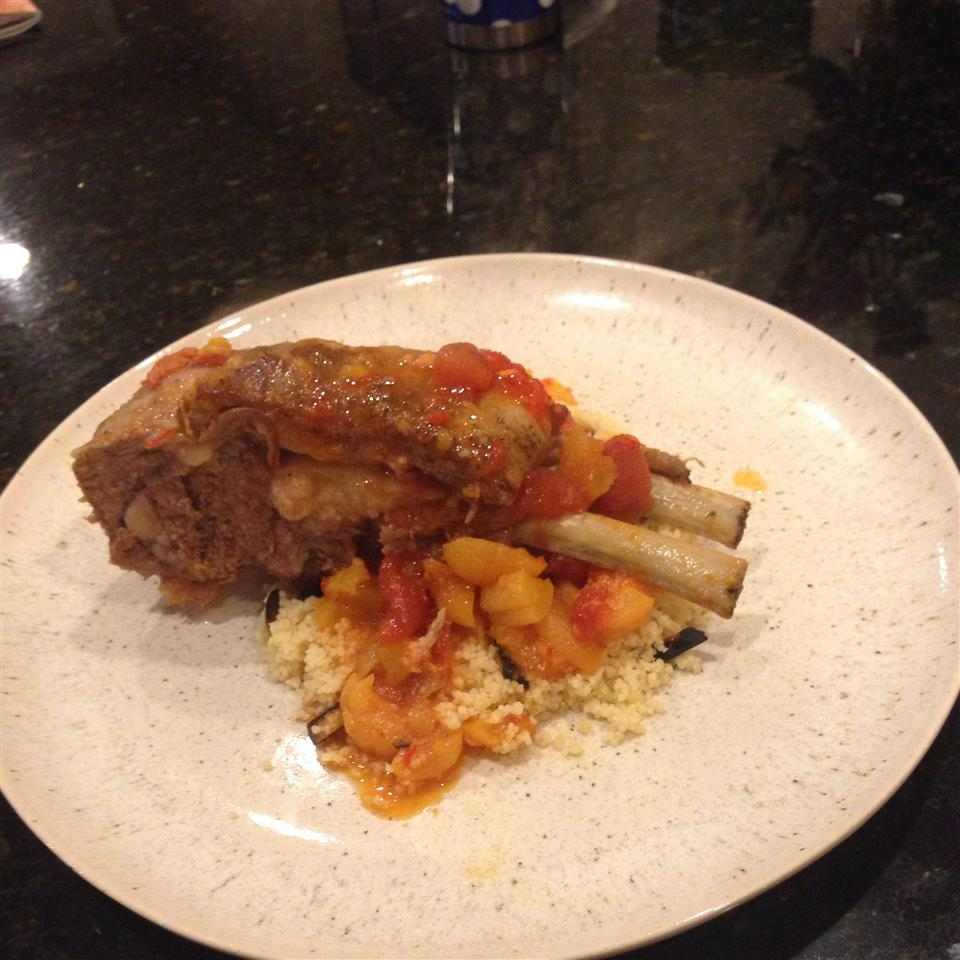 Moroccan-Style Lamb Shanks with Apricots