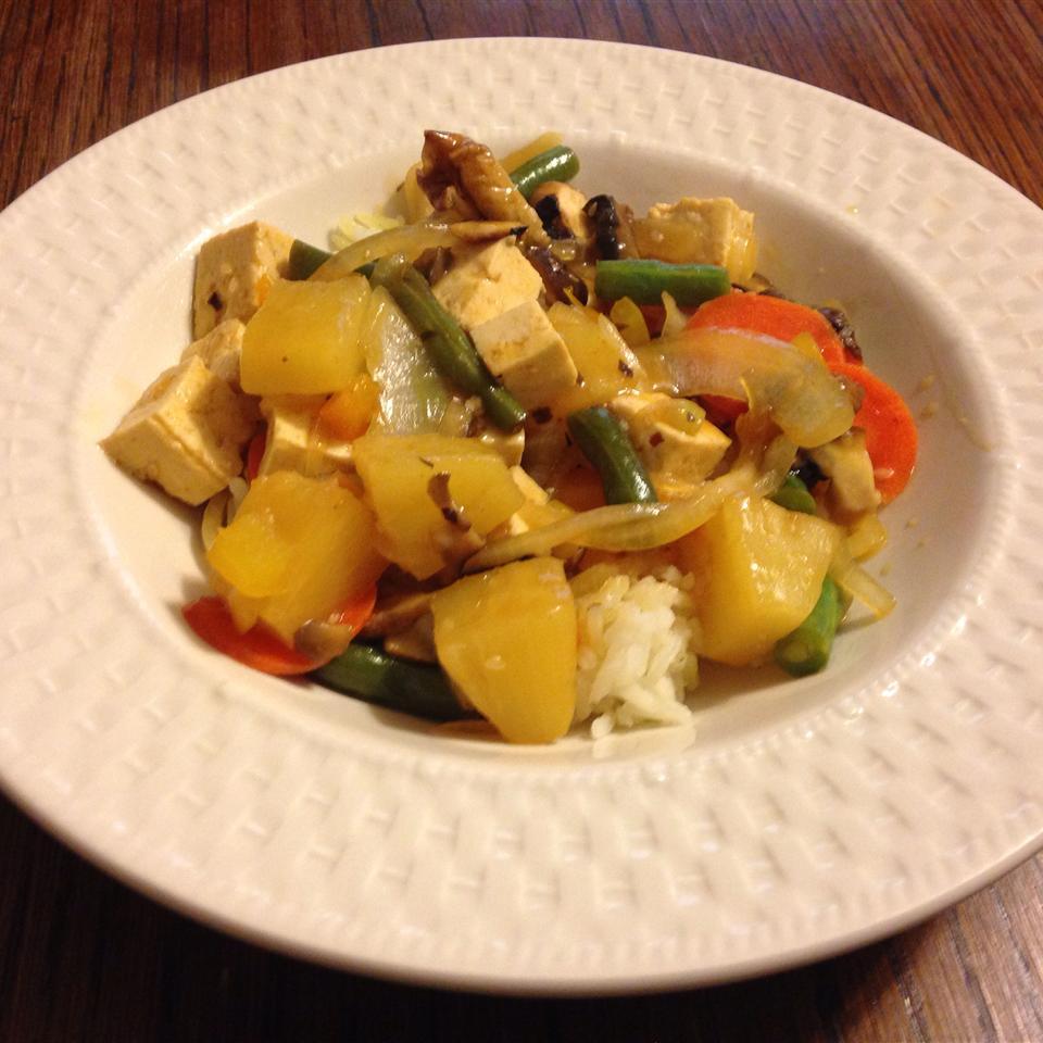 Sweet and Sour Tofu Veggies Candice