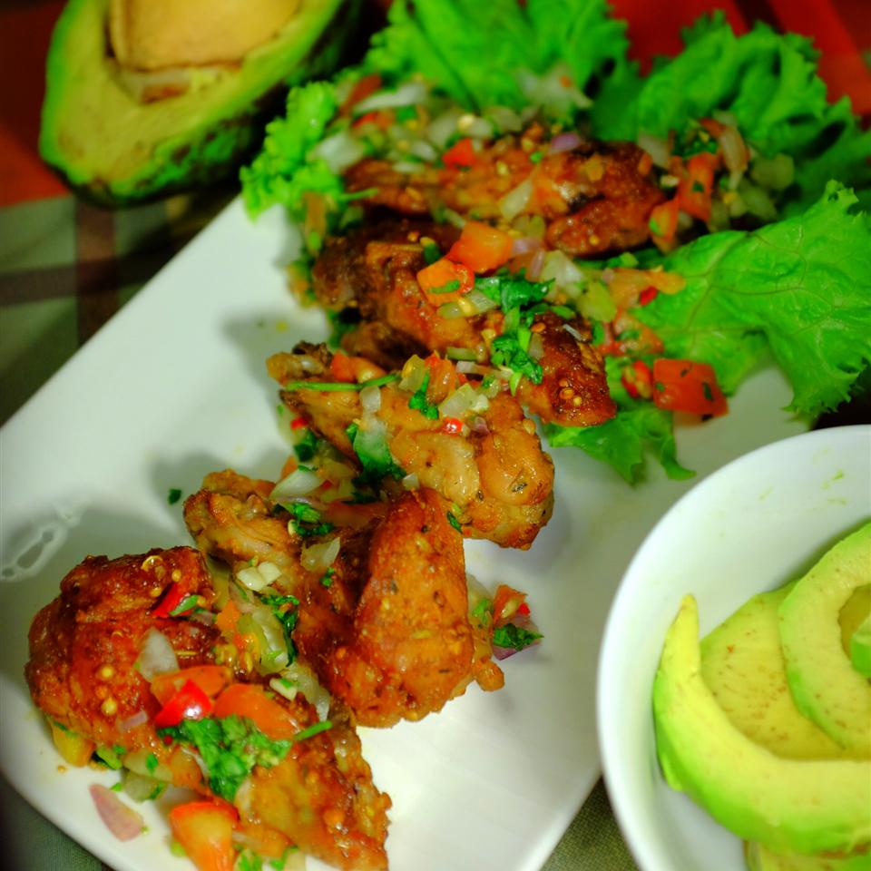Mexican Buffalo Wings with Salsa Sauce