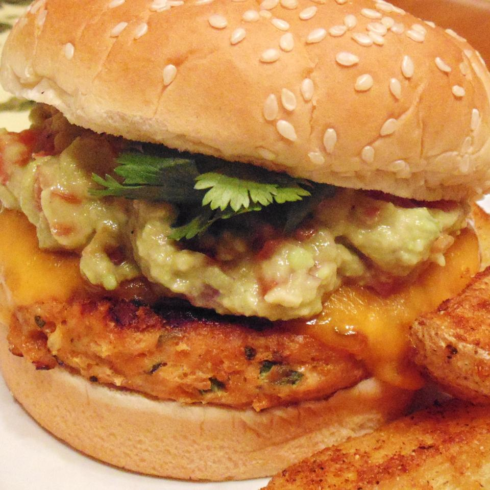 Chicken Cheddar and Guacamole Burgers Christina