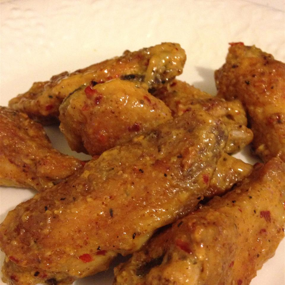 Sweet Hot Mustard Chicken Wings
