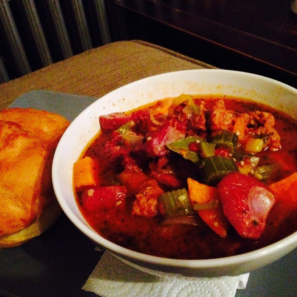 Spicy Turkey Sweet  Potato Gumbo