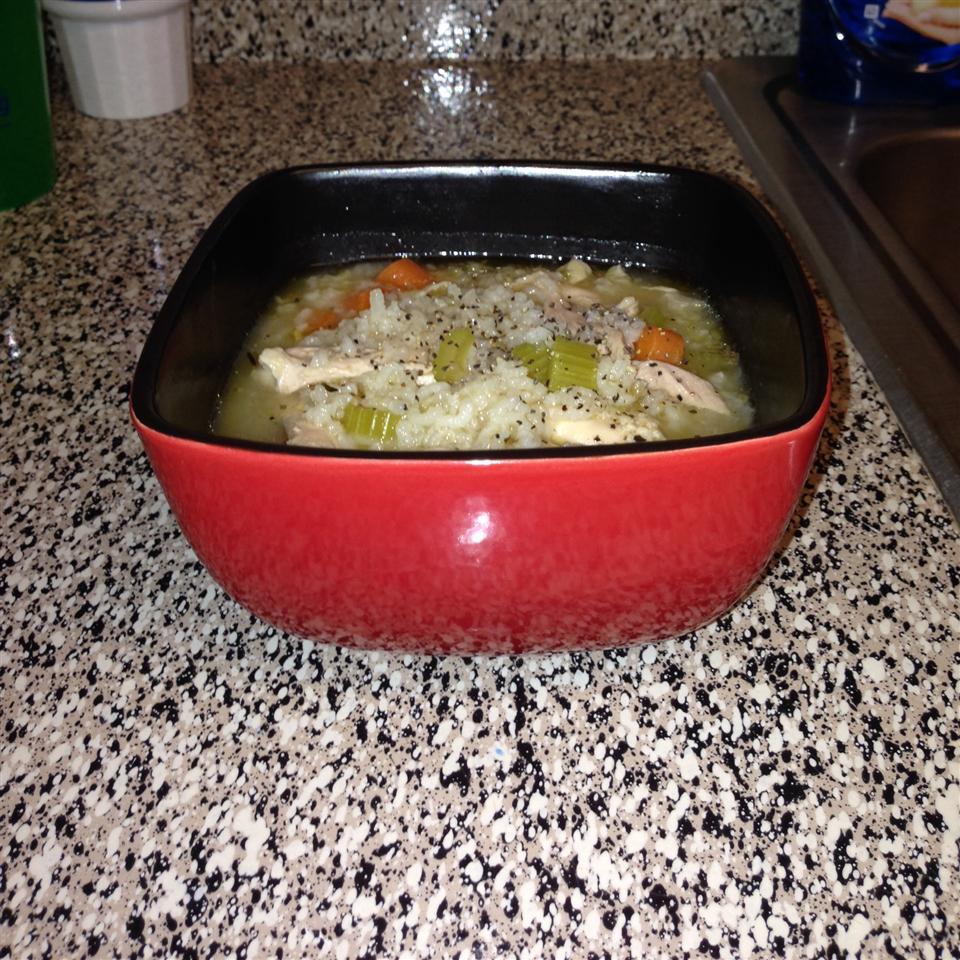 Simply Delicious Chicken Rice Soup cityspud81