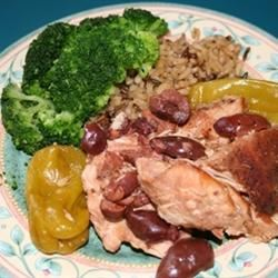 Mediterranean Chicken with Pepperoncini and Kalamatas Dana