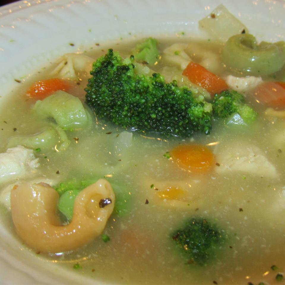 Chicken Tortellini Soup with Broccoli duboo