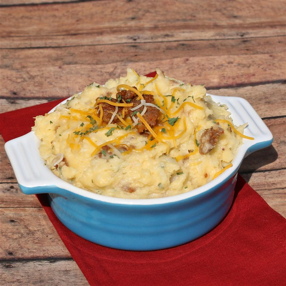 Cheesy Mashed Potatoes with Cubed Ham My Hot Southern Mess