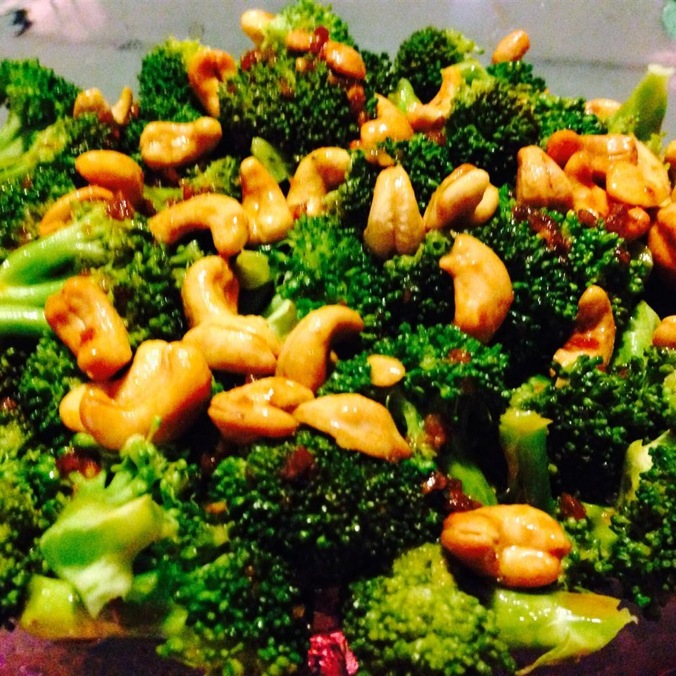 Broccoli with Garlic Butter and Cashews Elexsia B Perry