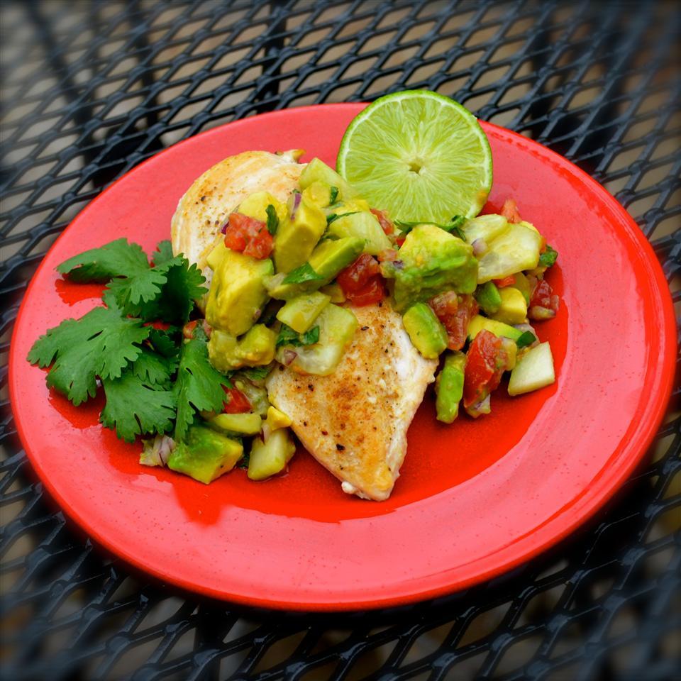 Cumin Rubbed Chicken with Avocado Salsa Bibi