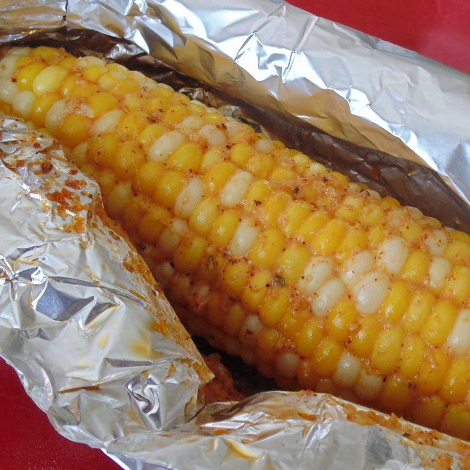 Oven Roasted Parmesan Corn on the Cob - Printer Friendly