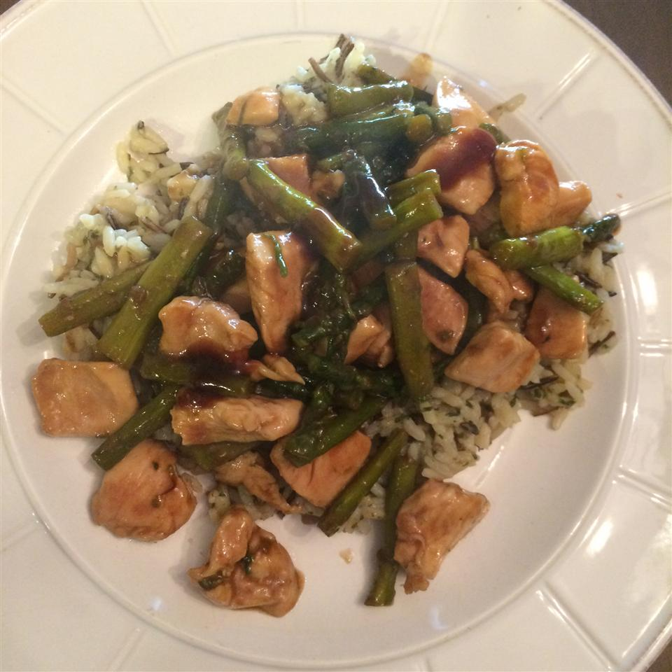 Wild Rice and Asparagus Chicken Breasts