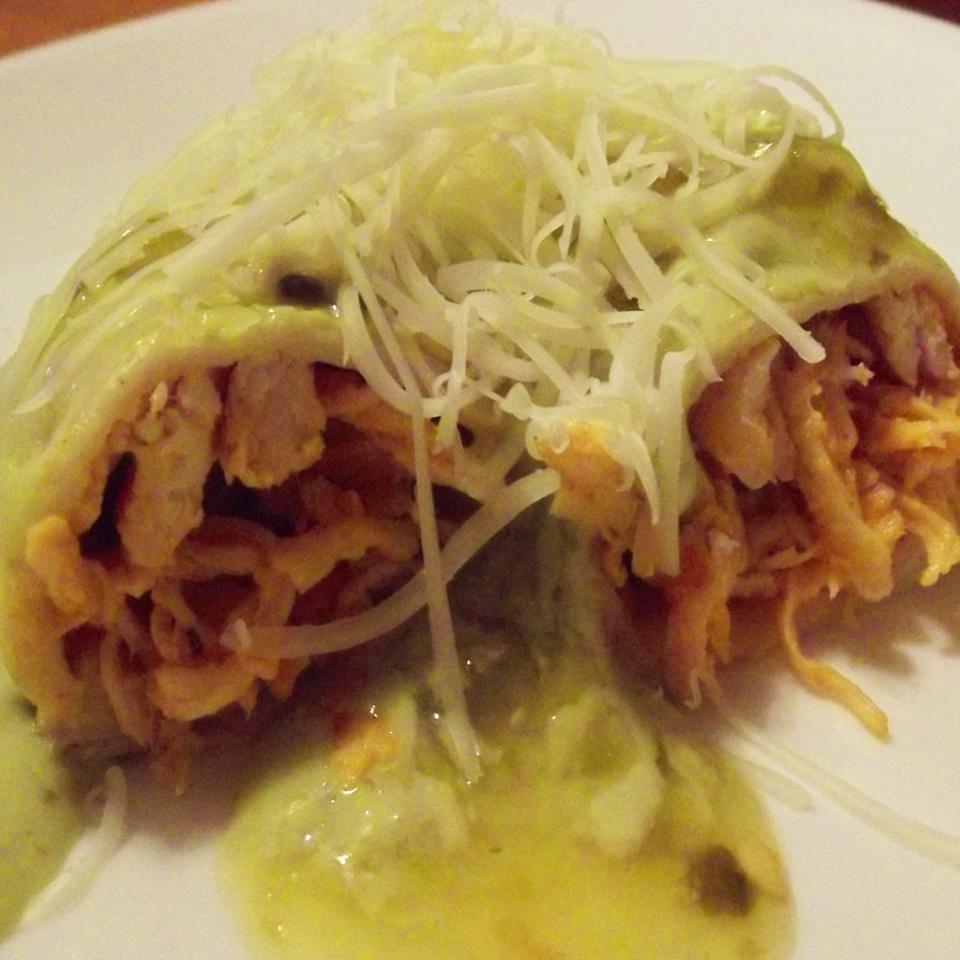 Mexican Flag Buffalo Chicken Enchiladas