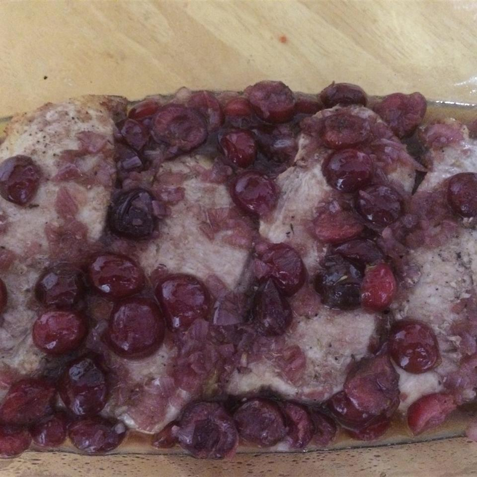 Pork Chops With Black Cherry Sauce