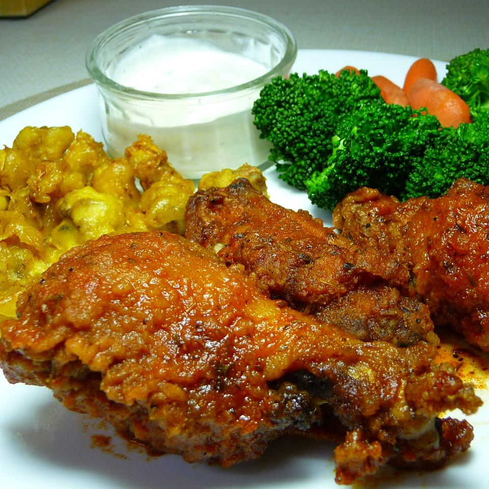 Spicy and Tangy Hot Wings Heath Giles