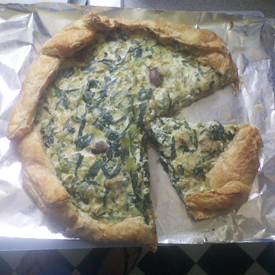 Leek, Spinach, and Mushroom Tart