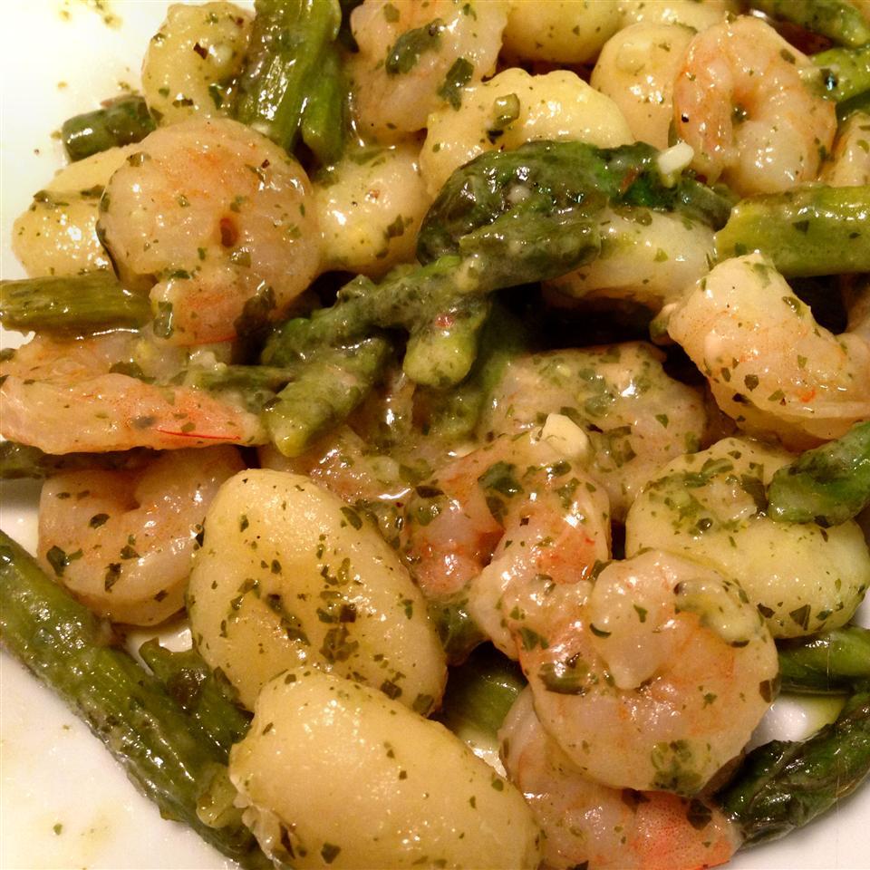 Gnocchi with Pesto and Shrimp