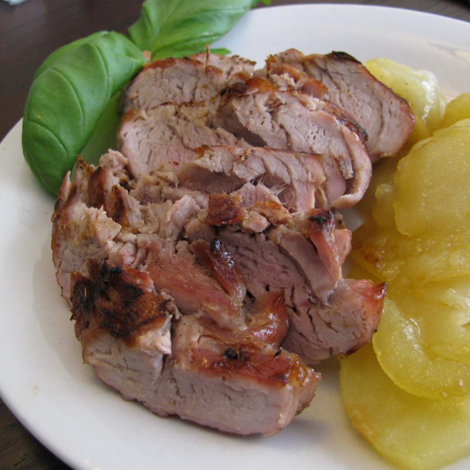 Grilled Pork Tenderloin with Fried Apples Alyssa Long