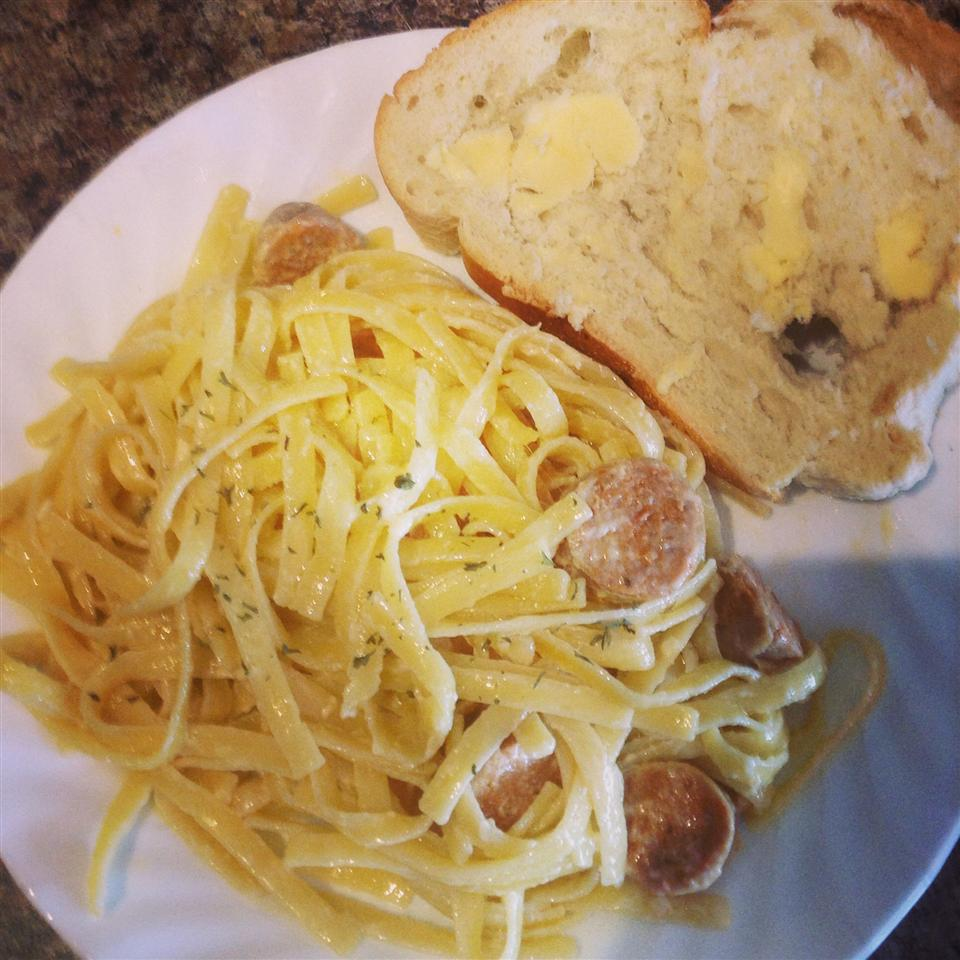 Fettuccini Alfredo With Sausage aferbs92
