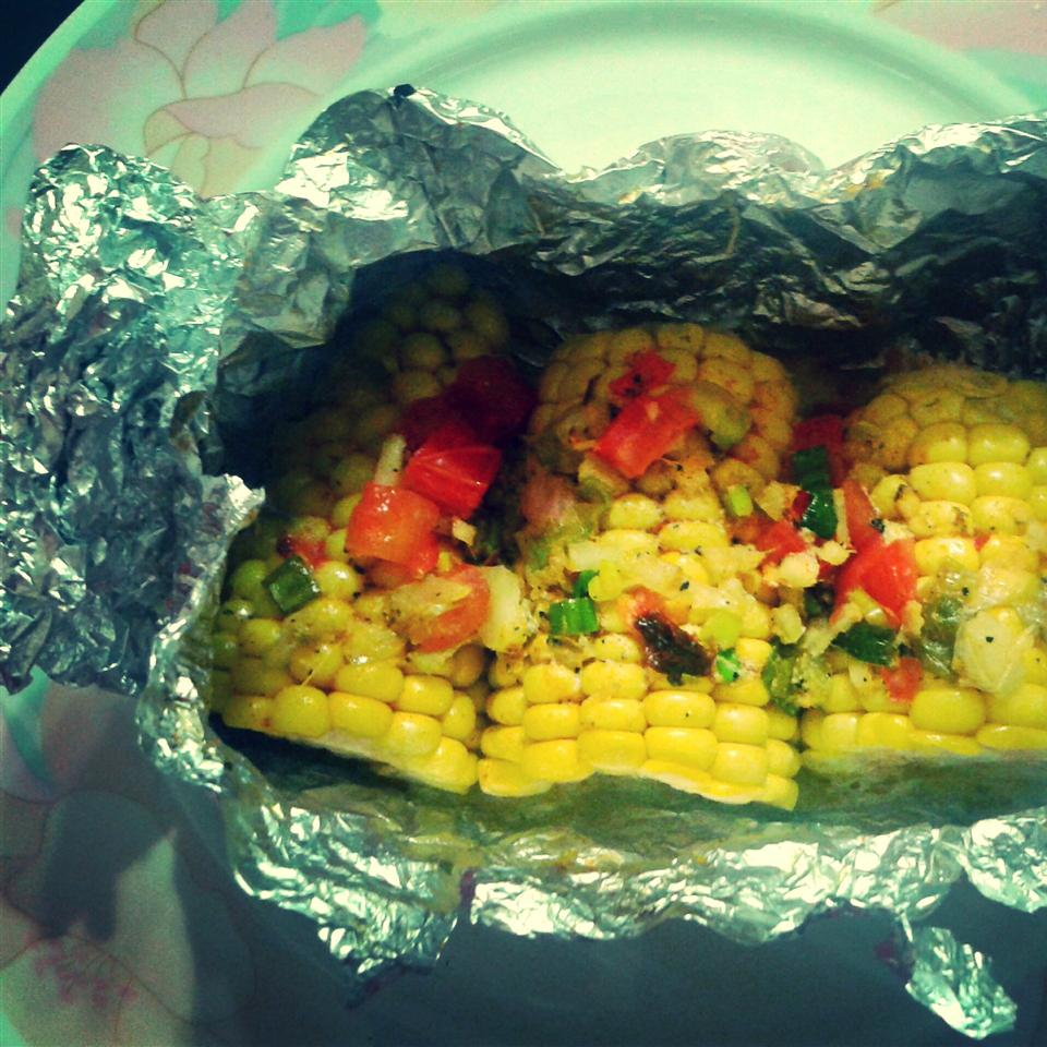Herbed Butter Corn Cobs in Parchment