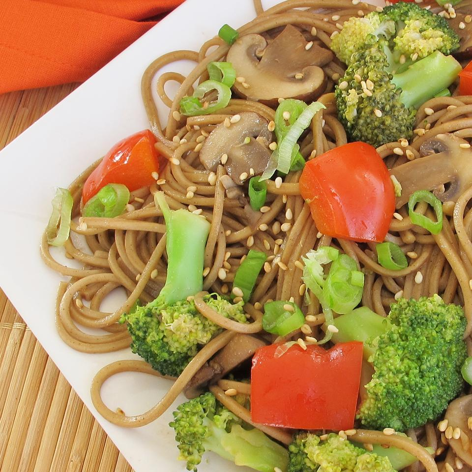 Soba with Toasted Sesame Seed Sauce