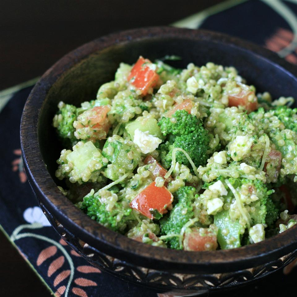 Parsley Walnut Pesto Quinoa Salad