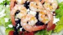More pictures of Greek-Style Shrimp Salad on a Bed of Baby Spinach