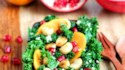 More pictures of Persimmon, Pomegranate, and Massaged Kale Salad