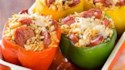 More pictures of Smoked Sausage and Orzo Stuffed Peppers