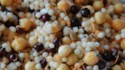 More pictures of Lemony Quinoa with Chickpeas and Huckleberries