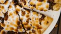More pictures of Grilled S'mores Pizza