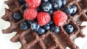 More pictures of Best Vegan Chocolate Oatmeal Waffles