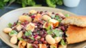 More pictures of Halloumi Three-Bean Salad with Pomegranate-Harissa Vinaigrette