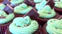 More pictures of Mint Buttercream Frosting With Dark Chocolate Glaze