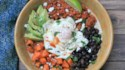 More pictures of Roasted Sweet Potato, Black Bean, and Chorizo Breakfast Bowls
