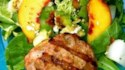 More pictures of Peachy Turkey Burger over Greens with Endive, Bacon, Avocado, and Gorgonzola