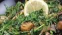 More pictures of Wilted Arugula and Portobello Mushrooms