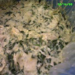 Justine's Artichoke Chicken Spinach Dip JustineCosley