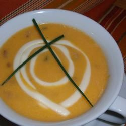 Butternut Squash and Spicy Sausage Soup Minnesota_Girl