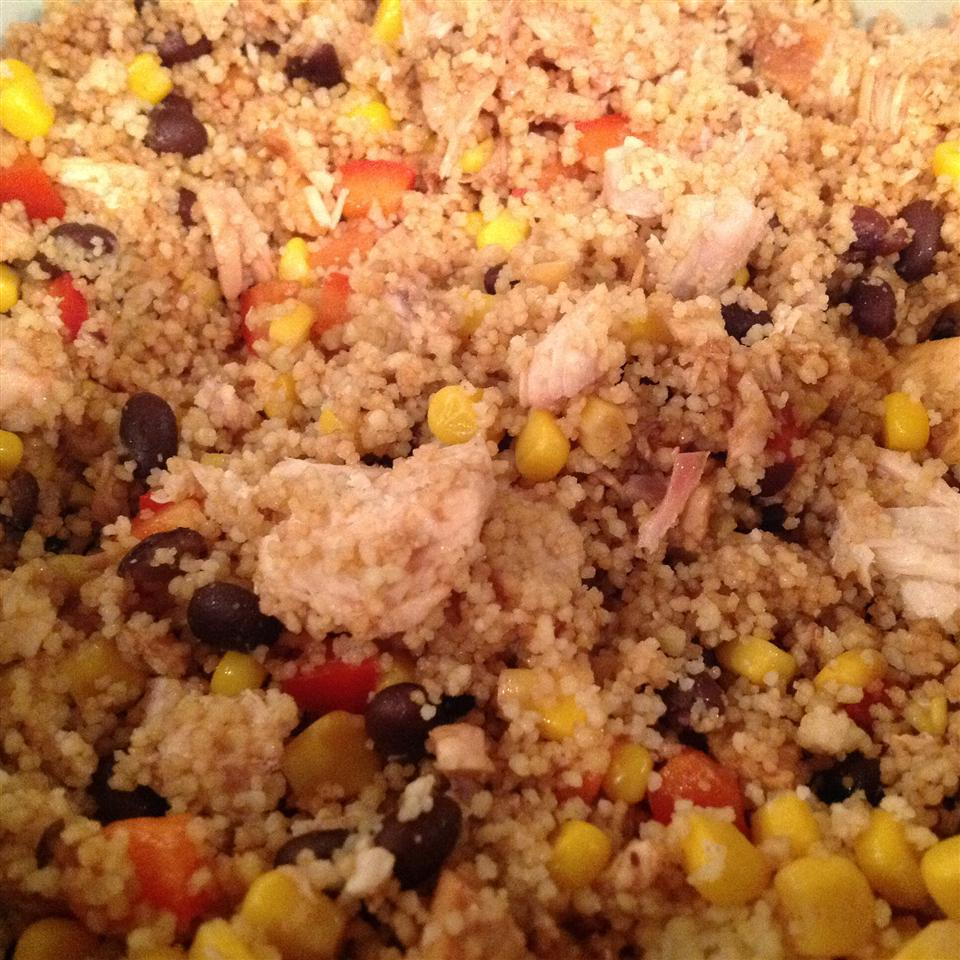 Couscous, Corn, and Black Bean Chicken Salad